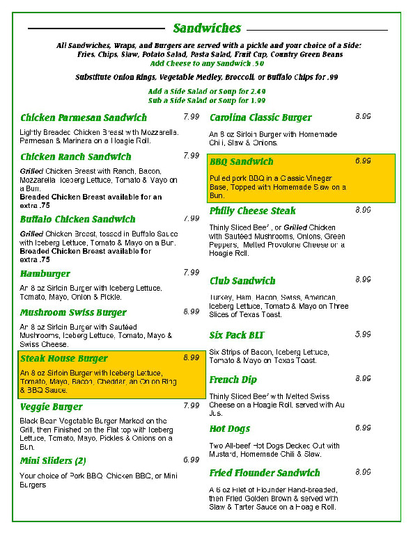 menu tailgators locust nc page 1