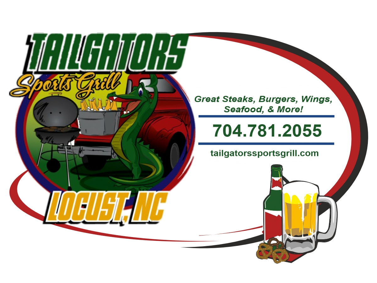 tailgators sports grill local locust logo