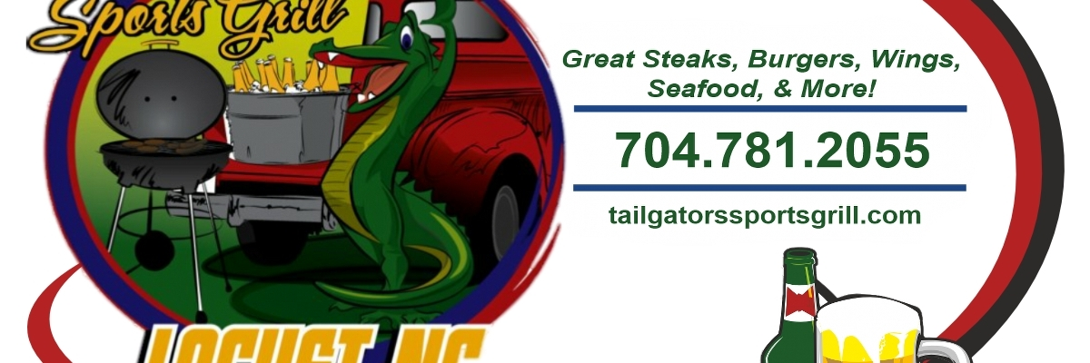 tailgators sports grill local locust logo